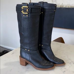 Chloe black leather boots sz 39 Great Condition!